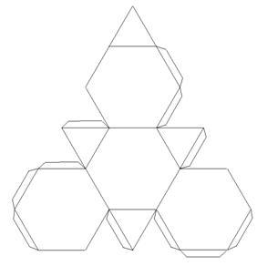 Развертка Усеченного тетраэдра