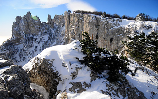 Склоны Ай-Петри зимой