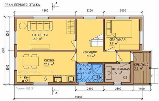 каркасный дом 32