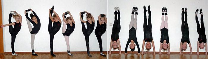 На тренировке в танцевальном зале