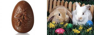 Шоколадное пасхальное яйцо и Пасхальный кролик