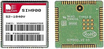 Внешний вид GSM модуля SIM900