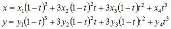 Параметрические кривые Безье третьего порядка