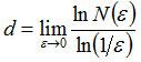 Формула значения для размерности d