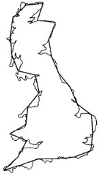 Определение фрактальной размерности Британии
