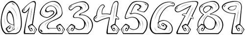 Шрифты для цифр