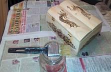 деревянная шкатулка 13