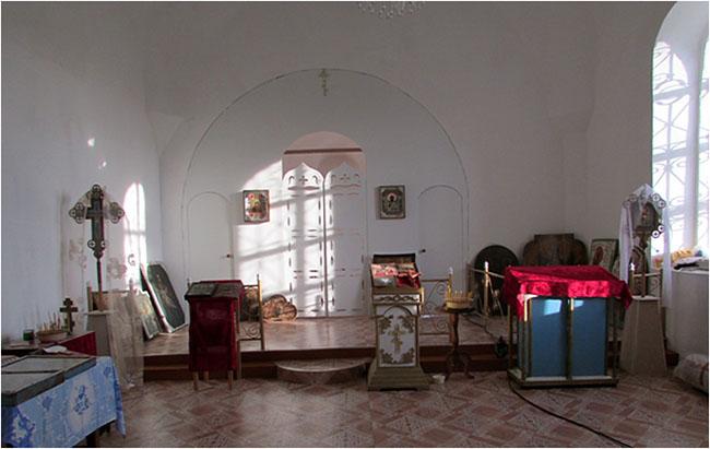 Храм села Никитино внутри