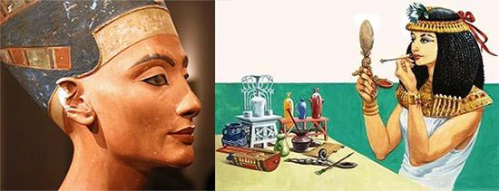 Использование губной помады в Древнем Египте