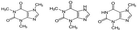 Кофеин, теофиллин, теобромин
