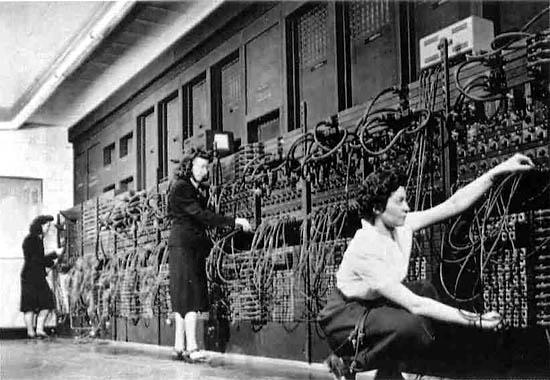 Работа персонала с компьютером Эниак(Eniac)