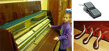Строение пианино