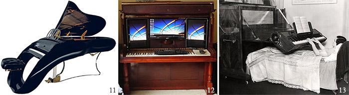 Космическое пианино, пианино-компьютер, пианино для лежачих больных