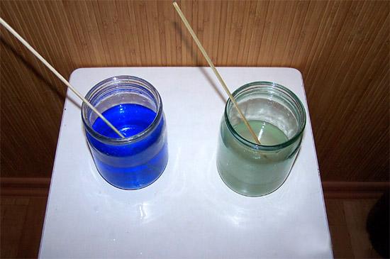 Растворы купороса и соли