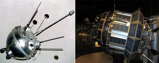 Автоматические станции Луна-2 и Луна-3