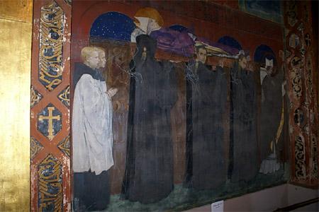 фреска Погребение Святого Одилона