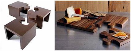 Мебель - пазл и разделочная доска - пазл