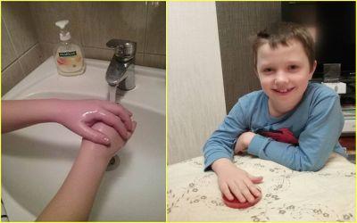 бактерии на чистых руках