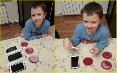 микробы на мобильном телефоне