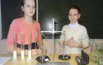 эксперимент с молоком
