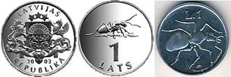 Монеты с их изображением муравья