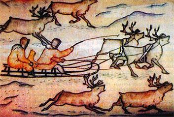 Наскальные рисунки эвенков орочонов
