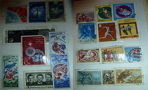 Коллекции марок моего папы