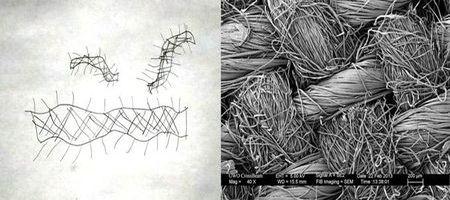 волокна ткани