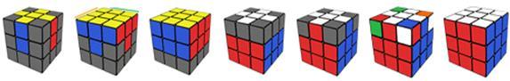 этапы сборки кубик рубика