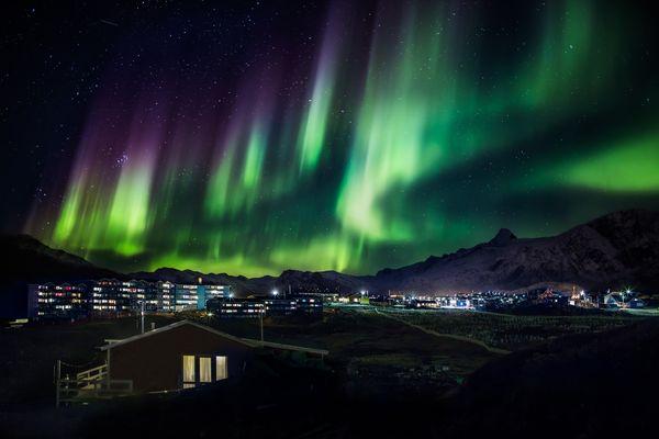 Северное сияние в Гренландия