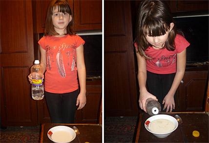 Молоко скисло после добавления уксуса
