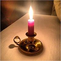 Опыт с солью и свечей