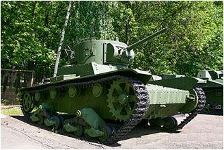 Лёгкий однобашенный танк Т-26 образца 1933 года