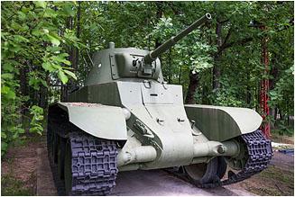 Лёгкий колесно-гусеничный танк БТ-7 образца 1935 года