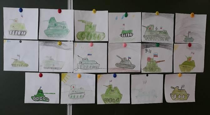 рисунки танков