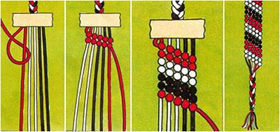 Шаги по плетению фенечки