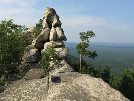 скала каменная голова