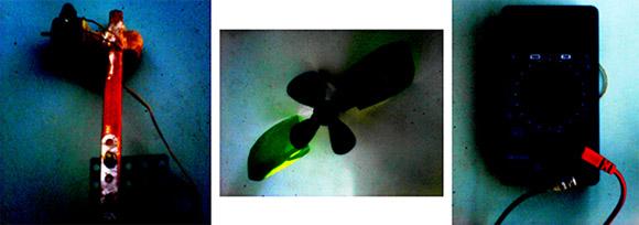 Вентилятор от микроволновки, электродвигатель и вольтметр