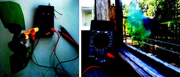 Самодельный прибор - вентилятор, электродвигатель и вольтметр