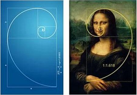 Портрет Моны Лизы основан на золотых треугольниках