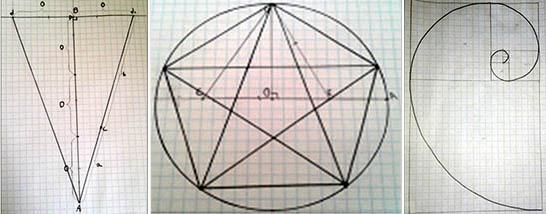 Построение золотого треугольника